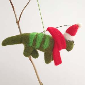 Felt Dinosaur Christmas Deocration by Felt So good