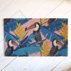 Tropical Toucan Doormat 100% Natural Coir