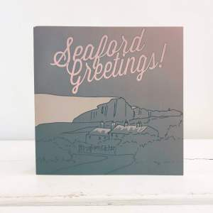 Seaford Greetings Christmas Card by Inle Home