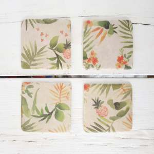 Tropcial Coasters by Gisela Graham
