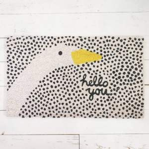 Hello You Goose Doormat by Bombay Duck