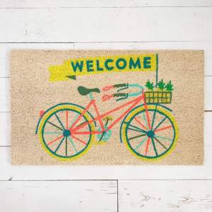 Bike with Pineapples doormat by Bombay Duck
