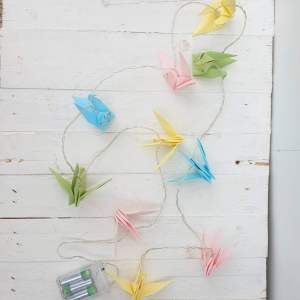 String Lights with Origami Birds by House of Disaster
