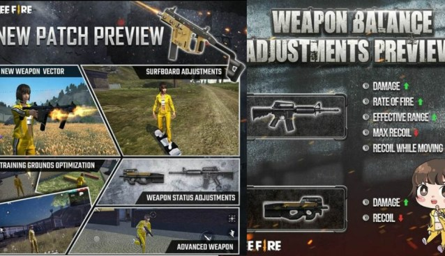 Galena FreeFire updates with an improved training map, Akimbo SMG double-sword vector