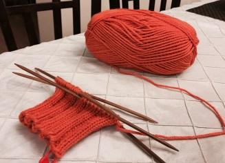 Orange Armwarmers – Progress