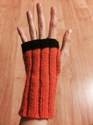 Orange Armwarmers - Finished!