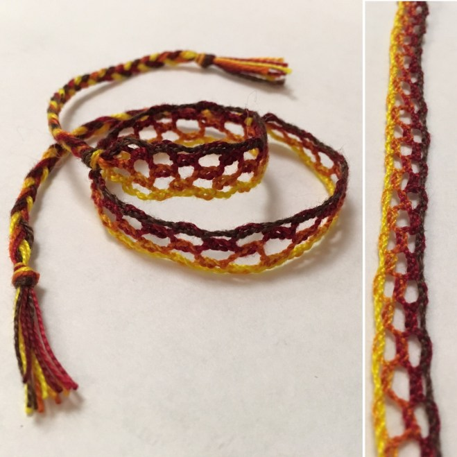 Bobbin Lace - Bracelet Finished Details