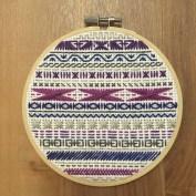 Purple and Blue Cross Stitch - Finished