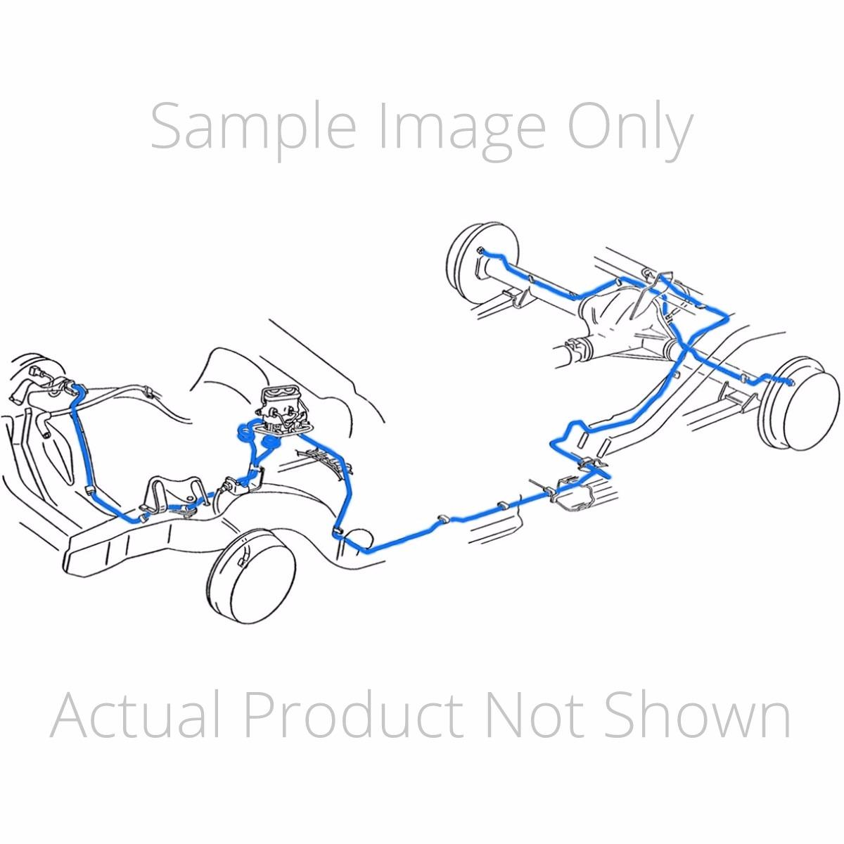 Brake Hydraulic Line Kit Fits Chevrolet S10 Blazer