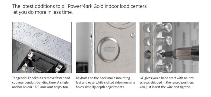 GE PowerMark Gold 100 Amp 12-Space 22-Circuit Indoor Main