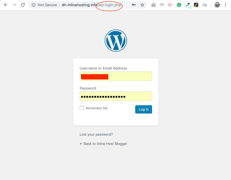 SiteGround-WordPress-login