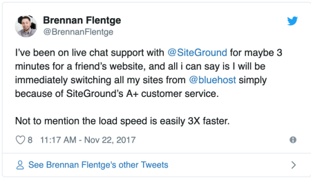 SiteGround and Bluehost's speed review