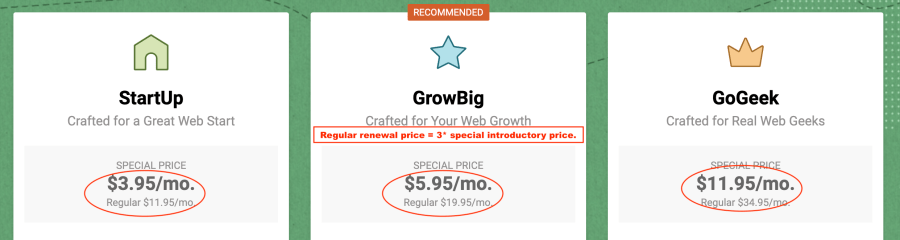 SiteGround renewal price issues