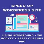 Speed up website using siteground
