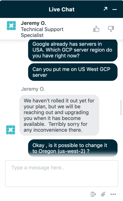 WP Engine data center issues.