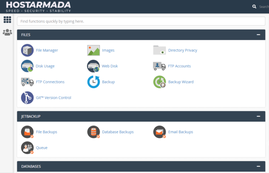 hostarmada-cpanel-account