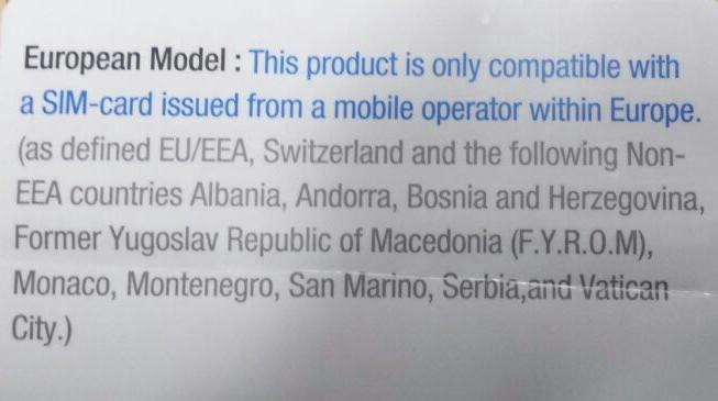 Regional lock в новых моделях Samsung