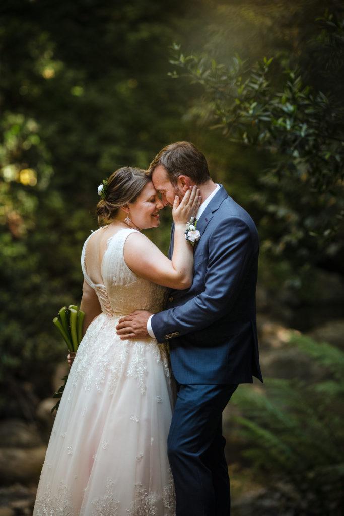 California Saratoga Springs Forest Wedding