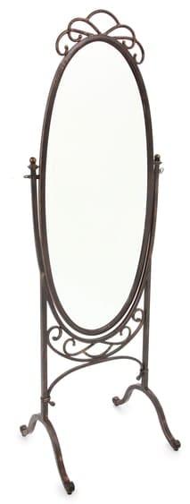 Ornate Standing Mirror Over White