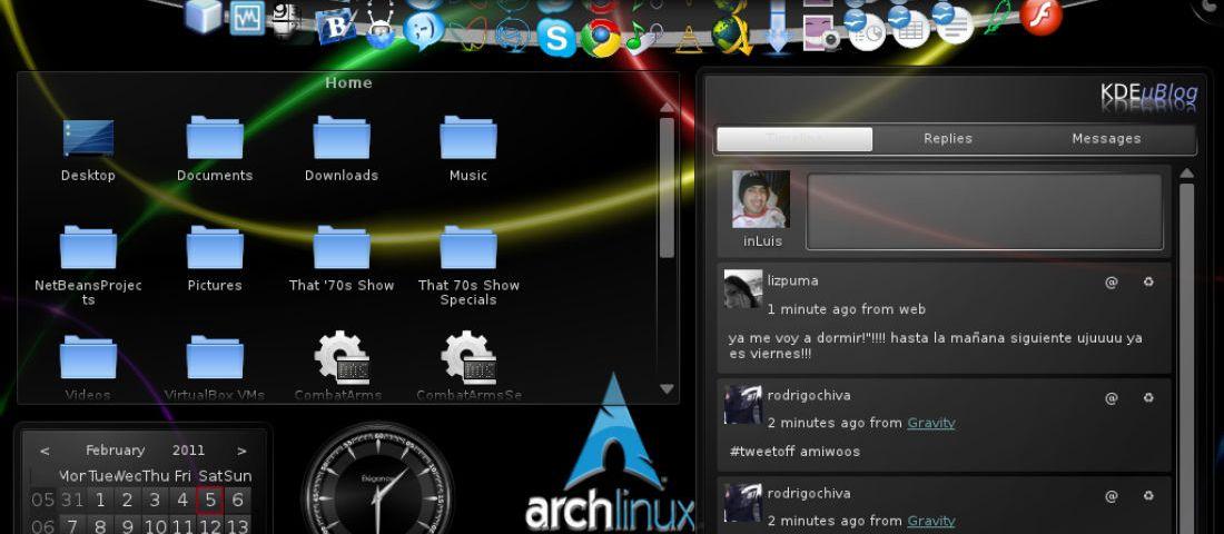 ArchLinux+KDE=Felicidad