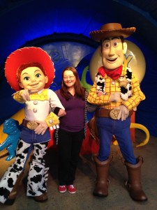 With Jessie and Woody
