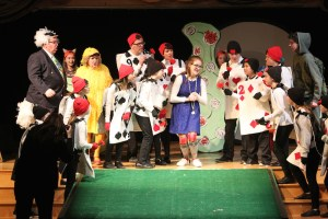 A scene from this year's production of Alice in Wonderland.