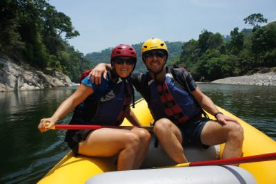 Happy times- rafting on the Rio Cangrejal