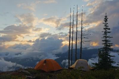 Camp on Flower Ridge