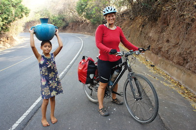 Cycle touring makes it easy to stop and chat with locals