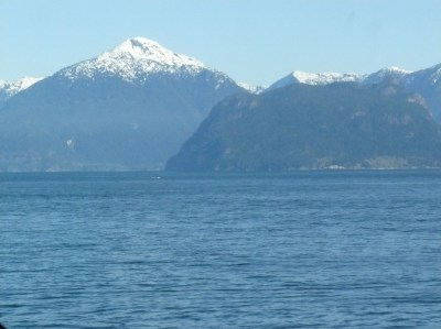 The Sunshine Coast from the Ferry