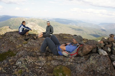 Relaxing on the summit of Ilal