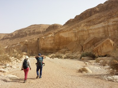 We visited the Finzis in Mitzpe Ramon, the dusty town on the edge of a crater that is (almost) one of a kind