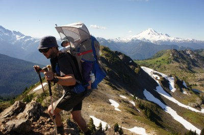 Getting to the summit of Yellow Aster Butte