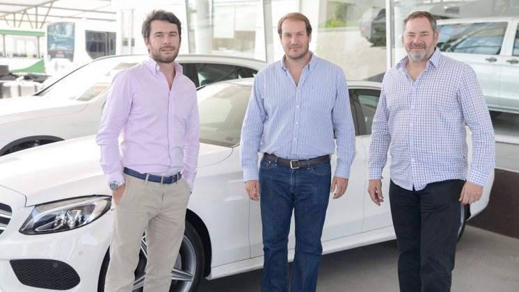 Maxi Serrano, Marcos Mordcovich y Fede Barzola