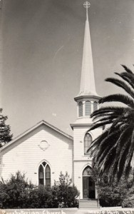 Menlo Park Presbyterian Church's first building in downtown Menlo Park - InMenlo.com