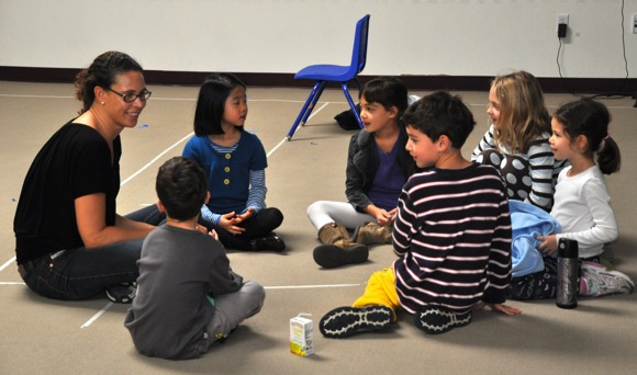 students at Synapse School in Menlo Park