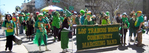 Los Trancos Woods Community Marching Band at San Francisco St. Patrick's Day Parade