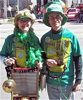 Los Trancos Woods Community Marching Band members