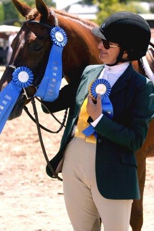 Lisa Burnett with horse