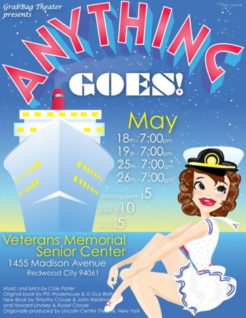 poster for Grab Bag Theater's production of Anything Goes
