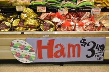 Easter hams at Trader Joe's in Menlo Park