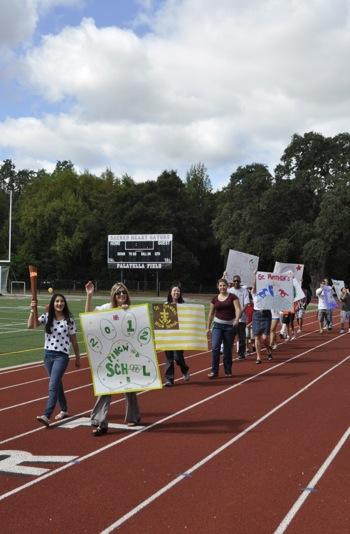 Peninsula Bridge school site torch relay