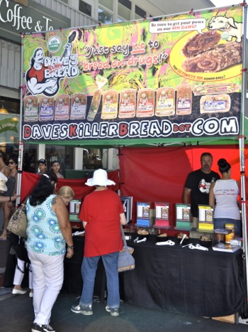 Dave's Killer Bread booth at Menlo Park Connoisseurs' Marketplace