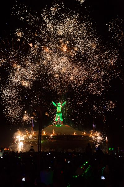 Buring Man 2013 - Fireworks at the Man