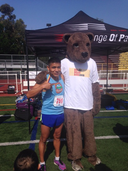 Big Bear Run winner and mascot