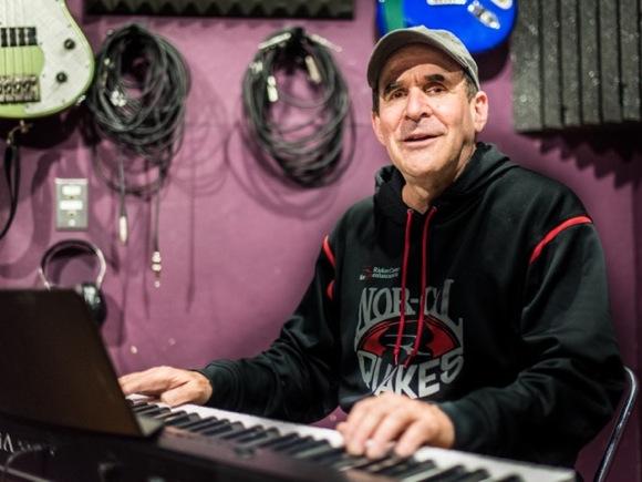 Gary Riekes at keyboard