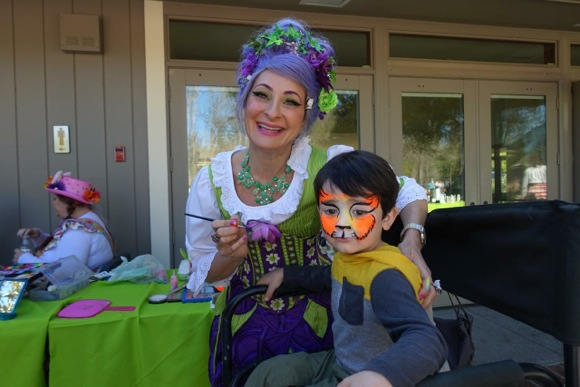 Face painting at Holbrook Palmer Park