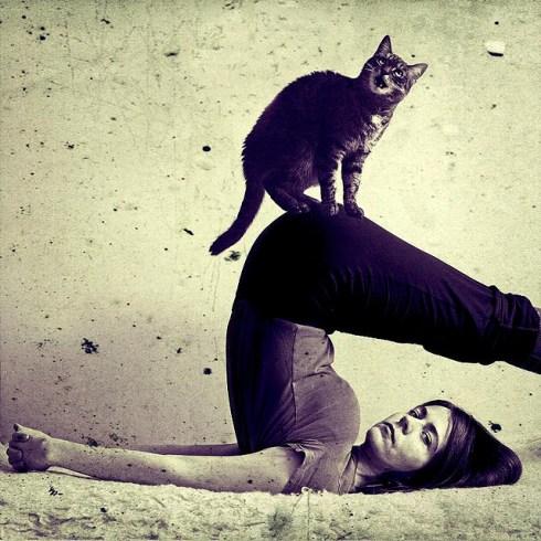 gosia janik yoga Halasana