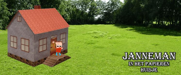 Janneman in het papieren huisje