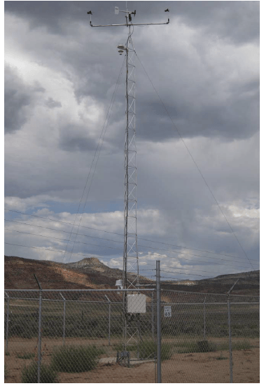 UT20 20 foot aluminum weather station tower